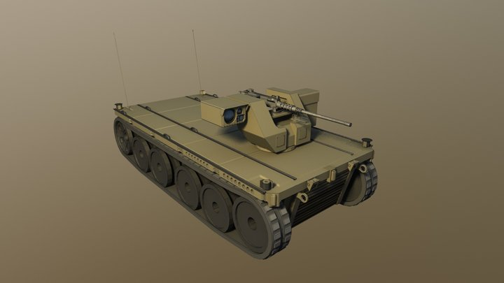 Robotic Vehicle Modular 3D Model