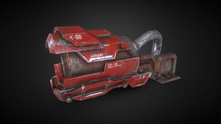 SciFi Nuclear Cannon Modular Boss PBR 3D Model