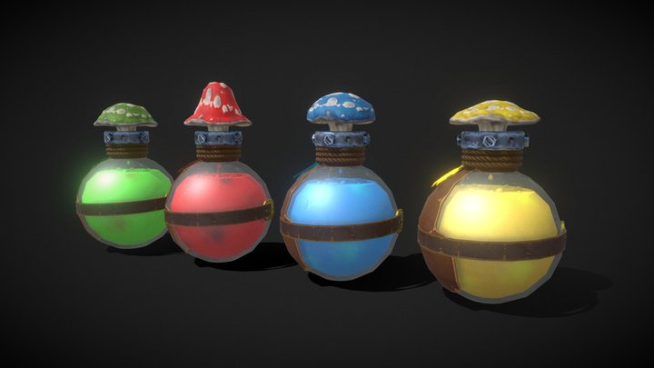 Mushroom Potion Lvl 4 3D Model