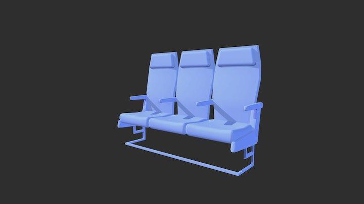 Flight Seat 3D Model