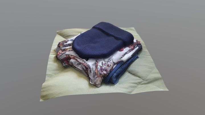 Folded Clothes - Square Scan Challenge 3D Model