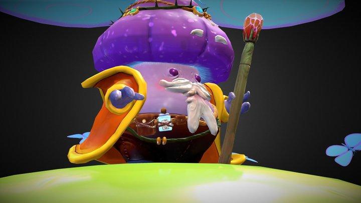 Mushroom Wizard 3D Model