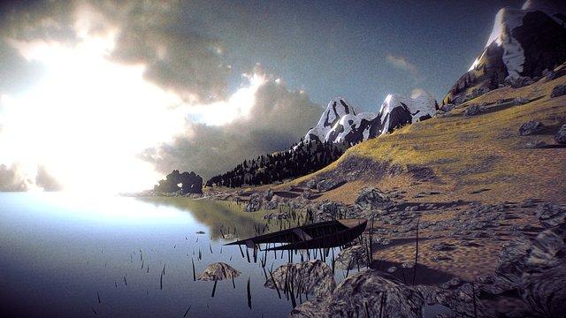 Lakeside - Exterior Scene 3D Model