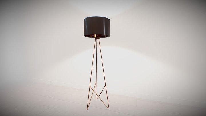 Industrial Drum Floor Lamp 3D Model