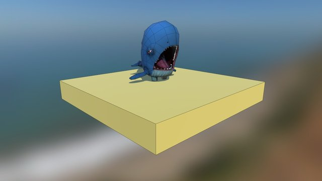 Whale Game 3D Model