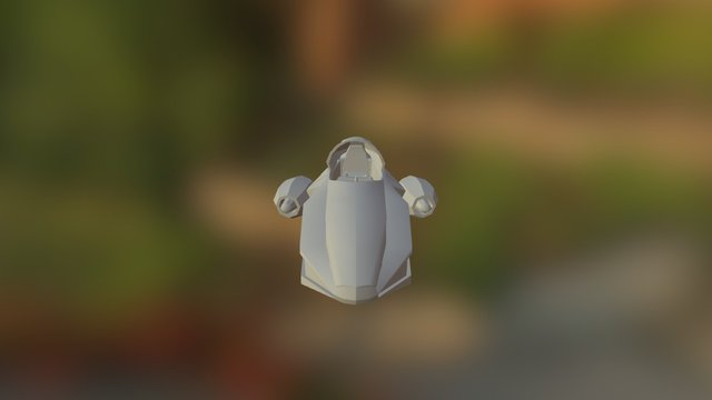 Nave Com Cobertura Retrátil 3D Model
