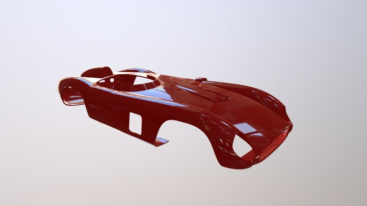 Ferrari Testa Rossa 250 1976 Car Body 3D Model