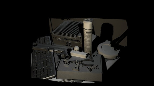 M: Complex Scene by 3D Scanner M 3D Model