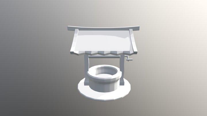 Stable Well 01 Untextured 3D Model