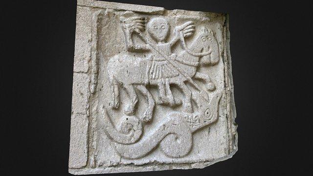 Bassorilievo in pietra San Giorgio 3D Model
