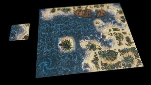 Tropical Islands - Tabletop RPG Tiles 3D Model