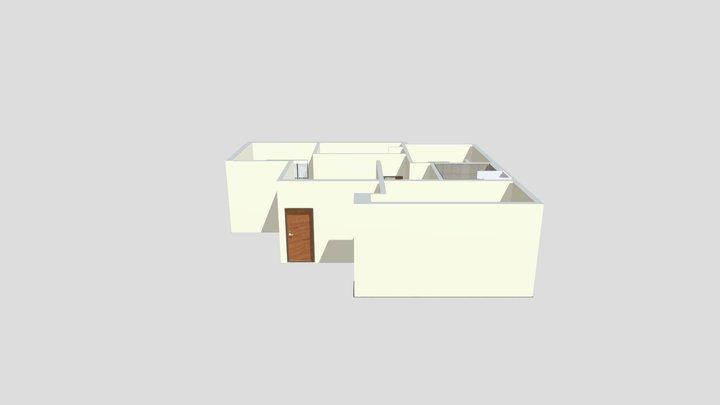 Magnolia Apartments: 3 Bedroom Unit 3D Model