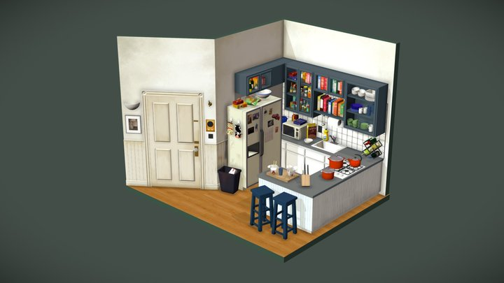 Jerry Seinfeld's Kitchen 3D Model