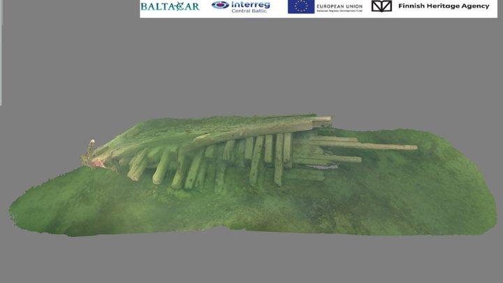 Kobben hylynosa - The Kobben Wreckpart 3D Model