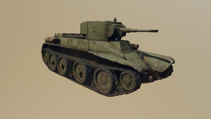 BT5 Soviet Light Tank 3D Model