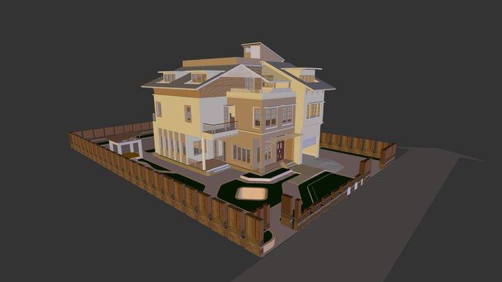 Nhà bác Thắng  - Sơn Tây 3D Model