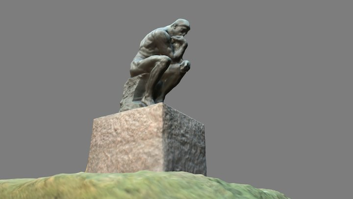 Auguste Rodin / The Thinker [Enlarged] @Ueno 3D Model
