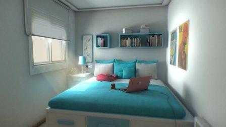 Teenagers Room 3D Model