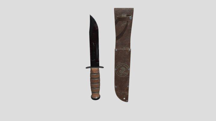 KA-BAR combat knife 3D Model