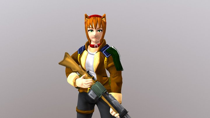 Lynnette at Ease 3D Model