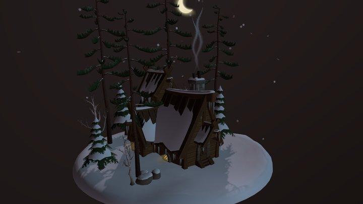 Winter Cabin 3D Model