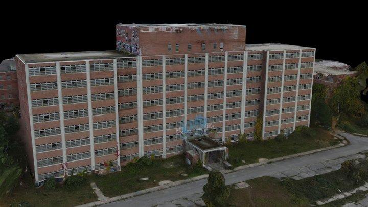 Abandoned Psychiatric Center Building 3D Model