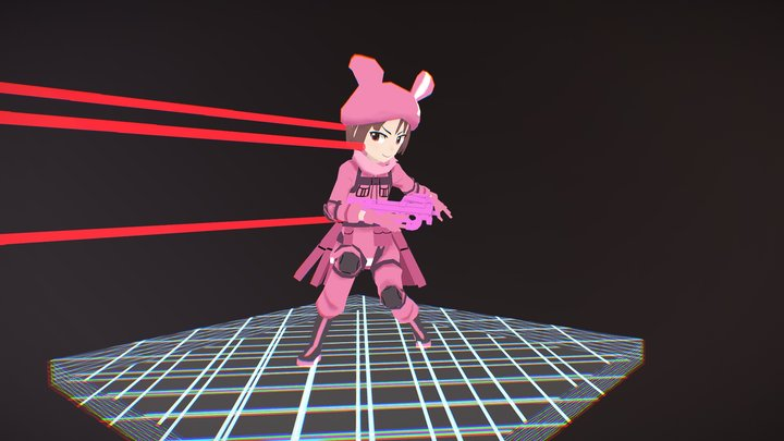 Llen with P-chan 3D Model