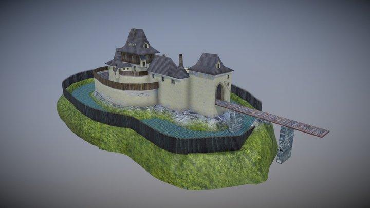 Kozí Hrádek castle 3D Model