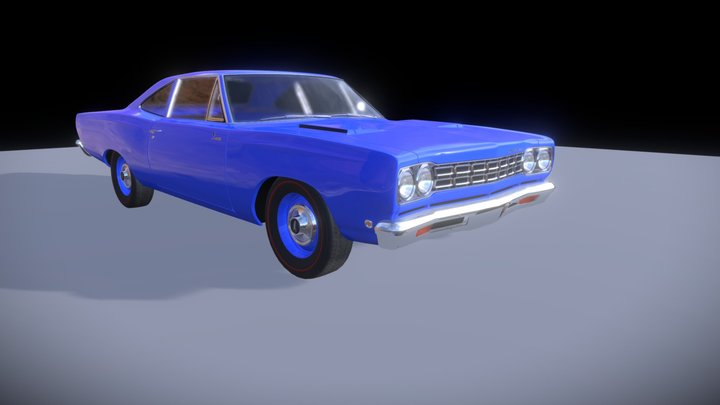 Plymouth Roadrunner 1968 Rigged (no Interior) 3D Model