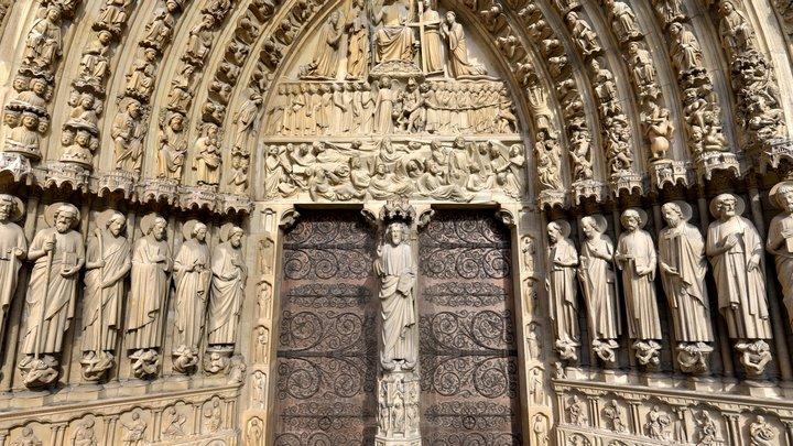Portail Notre-Dame de Paris 3D Model
