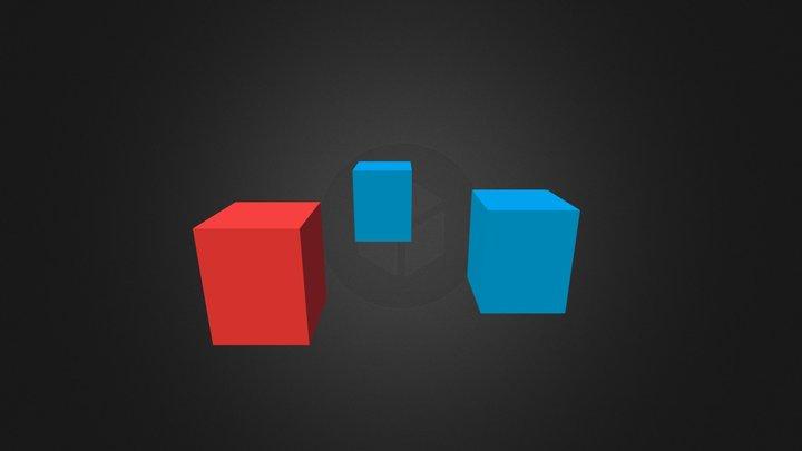 Test Color Cubes 3 3D Model