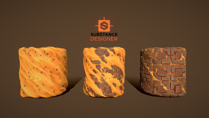 Free Stylized Textures Tiles with Sand 3D Model