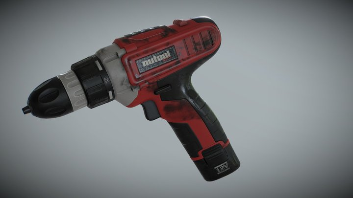 Drill Hard Surface 3D Model