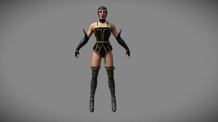 miss clitorine - T pose 3D Model