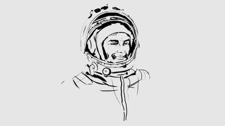 Daily VR Sketch April 12th: Yuri Gagarin 3D Model