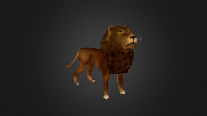 High poly lion 3D Model