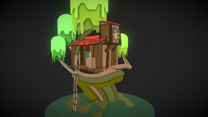Tree House   (Free Download) 3D Model