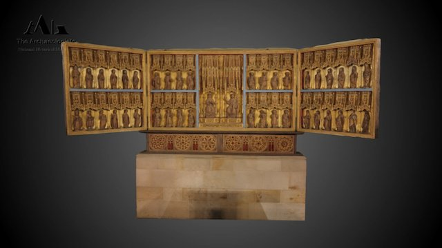 Altarpiece from the cathedral in Lund 3D Model