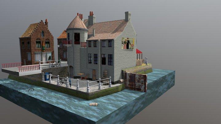 City Scene Brugge 3D Model