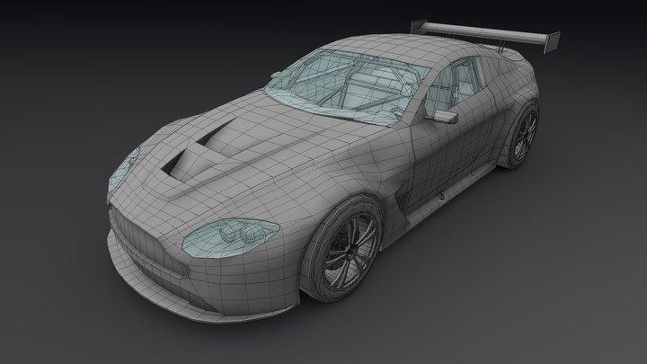 Aston Martin Vantage V12 GT3 3D Model