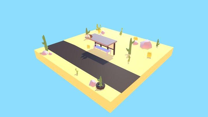 Low Poly Desert 3D Model