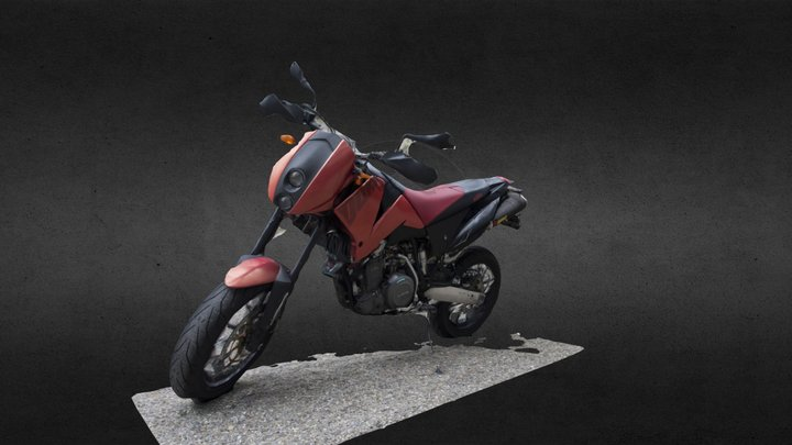 KTM DUKE II 640 E (recap360) 3D Model