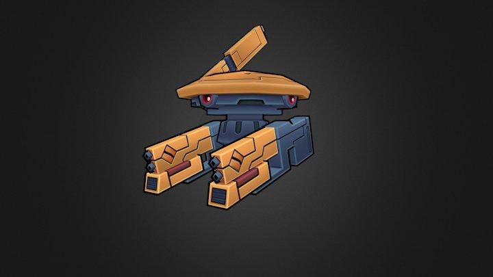 Tau Gun Drone - Low Poly - Warhammer 40k 3D Model