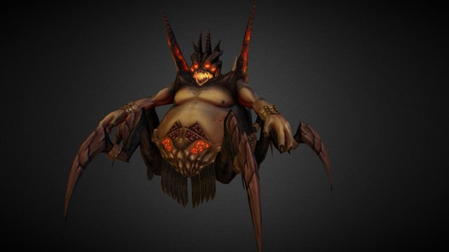 Azmodan diablo Fan Art 3D Model
