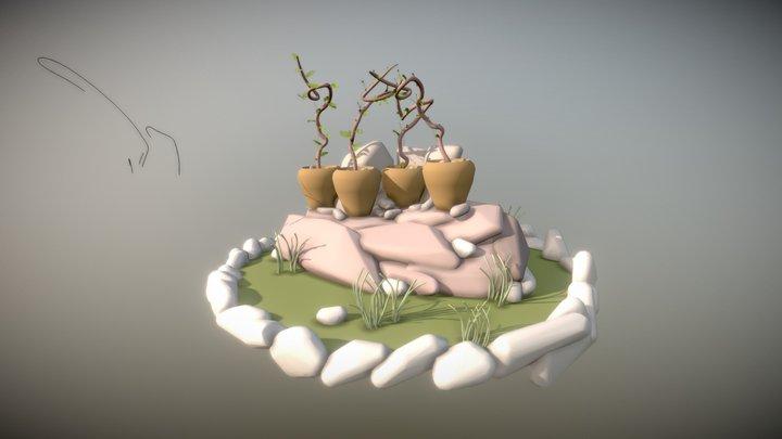 Garden pots 3D Model