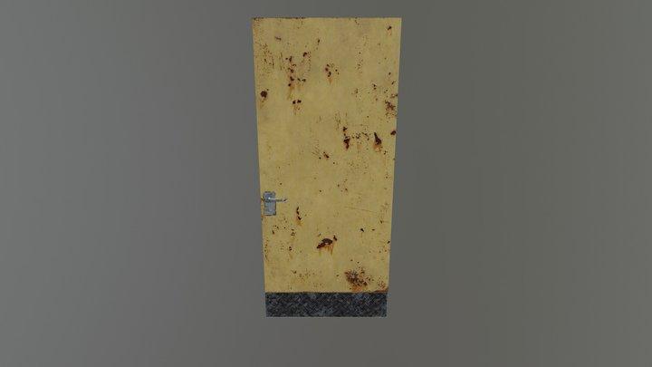 Rusty Metal Door 3D Model