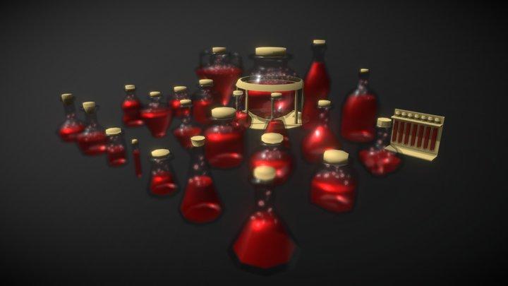 Frascos, Jarras y Botellas 3D Model