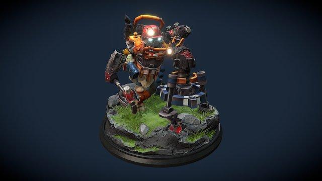Clockwork Custom Set - The One Man Wrecking Crew 3D Model