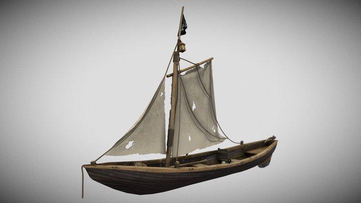 Pirate Boat Model 3D Model