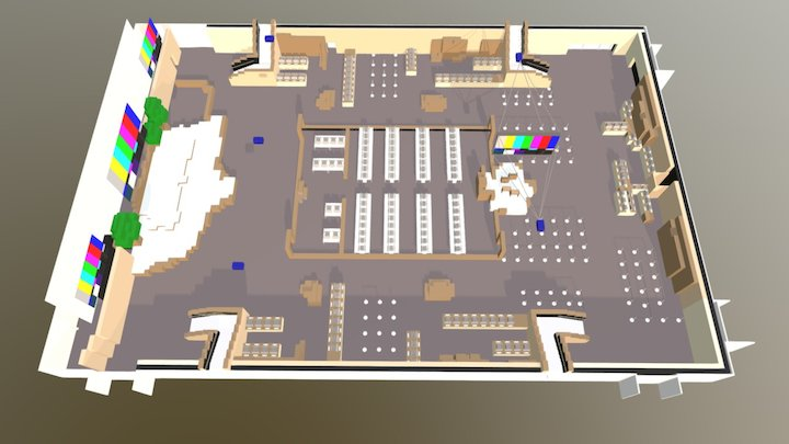 0126-1 Main Gaming Area V10 WIP 3D Model